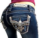 Rock Revival Jeans Low Rise Tibbie Rhinestone Bootcut Stretch Dark Jean NWT $174