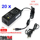 20pcs 65W 19V 342A Laptop AC Power Supply Cable Charger for Acer Toshiba F