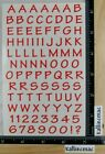 Mrs Grossman CASUAL ALPHABET RED Stickers