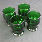 Set of 4 Retired Vintage Anchor Hocking Dark Forest Green Georgian Juice Glasses
