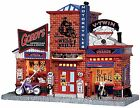 Lemax 25383 GORDY'S CYCLE SHOP Christmas Village Building Retired Motorcycle S I