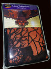 Halloween Fabric Tablecloth Black Spider Web Lace Haunted House Orange Liner