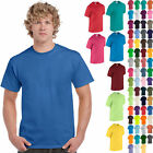 Gildan Mens Heavy Cotton T Shirt Pack of 5 Bulk Lot Solid Blank 5000 NEW