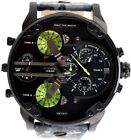 DIESEL Men's DZ7311 Mr Daddy 2 Black Camo Leather 4-time Zone Chronograph Watch