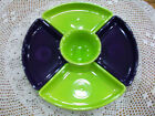 Fiestaware 6 pc Relish Entertaining set in Plum/Lemongrass. Includes 12