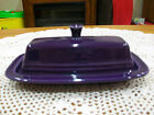 Fiesta Covered Butter Dish. Original small style.New first Quality. Plum