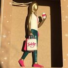 Hallmark Christmas Ornament Boxed Indulge Shopping Woman w/ Bags and Coffee NEW