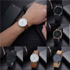 TOMI Fashion Casual Men 's Bussines Retro Design Leather Round Band Watch