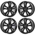 18 CHEVROLET CRUZE BLACK WHEELS RIMS FACTORY OEM 2017 2018 SET 5750 EXCHANGE