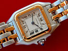 Beautiful,Ladies CARTIER PANTHERE S.S/18K Gold Double Row 1120 Watch AMAZING!!!