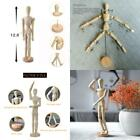 Wooden Human Art Posable Drawing Flexible Joints Mannequin Manikins Figures Doll