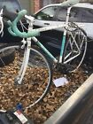 bianchi pista bike original white and tourquoise color, fixed gear and freewheel