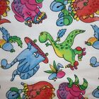 Jo Ann Flannel Fabric Pink Blue Green Dinosaurs Skateboard Skating Scooter BTY