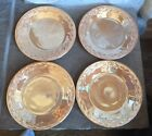 Vintage Fire King Peach Lustre 9 Inch Plates Lot of 4