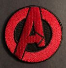AVENGERS A Logo PATCH Iron On Embroidered Red Marvel Comics Superhero Sticker
