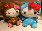 2PC SET 10 NWT Exclusive Hello Kitty Plushes Blue and Brown