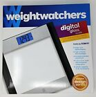 Weight Watchers Glass and Stainless Steel Designer Digital Bathroom Scale Large