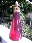Gorgeous Vtg CORREIA ART GLASS PERFUME BOTTLE CranberryGold Hearts 65 1985