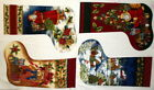 COTTON FABRIC PANEL MY WISH CHRISTMAS STOCKINGS IN FLANNEL