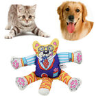 Pet Puppy Canvas Sound Cartoon Dog Shape Chew Toy Squeaker Squeaky Play Toys