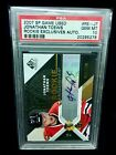 2007 #RE-JT Game Used Jonathan Toews Rookie RC Exclusives Autograph PSA:10 POP:1