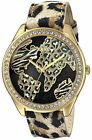 Guess Women's World Of Treasures Animal Print Gold-Tone Crytsal Watch - U0504L2