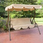 Outdoor Patio Canopy Swing Cushioned Chair Steel 2 Person Awning Bench Furniture