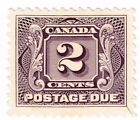 1906 1928 CANADA UNUSED 2 CENTS STAMP SCOTT J2 NG