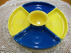 Fiestaware 6 pc Relish Entertaining set in Sunflower/Lapis. Includes 12