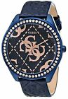 Guess Women's Iconic Blue & Rose Gold-Tone Crystal Oversized Watch - U0473L1