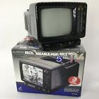 Vintage Alaron 5 Portable Black and White TV With Box Never Used Movie TV Prop