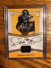 JEROME BETTIS 2017 PANINI PANTHEON AUTO PATCH RELIC 1 5 1 1 ON CARD STEELERS