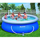 Inflatable Swimming Pool 12x36 w Filter Family Fun Backyard Round Above Ground