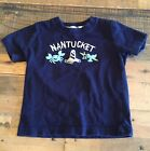 Gymboree 6 12 mon Boy NANTUCKET TShirt Navy + lighthouse + crab Easter 2013