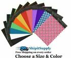 Choose Black Blue Green Pink Purple Red White Yellow Polka Colored Poly Mailers