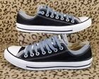 CONVERSE ALL STAR LOW TOP AULT SHOES SIZE 9 BLACK GRAY DOUBLE LAYER TONGUE