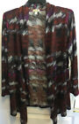 One World multi color open front cardigan plus size 1X NWT