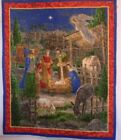Nativity Scene Quilted Wall Hanging table mat throw beautiful colors