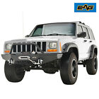 EAG 1984 2001 Jeep Cherokee XJ Front Bumper with Winch PlateBlack Textured