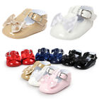 Newborn Baby Girl Anti slip PU Leather Crib Shoes Soft Sole Sneakers Prewalker N