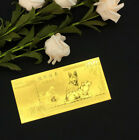 100Pcs Chinese Zodiac Dog Year Gold Foil Coin Lucky Wealth Blessing Gift