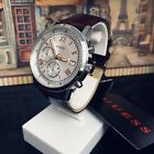 AUTHENTIC GUESS MEN'S SUMMIT CHRONOGRAPH WATCH LEATHER W1000G2 Brand New