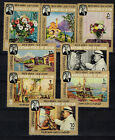 South Arabia Art Famous Winston Churchill Paintings stamps 1965 MNH