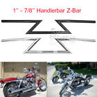 "Motorcycle 1'' & 7/8"" Handlebars Z Bar Drag Bars For Yamaha Suzuki Honda Harle"