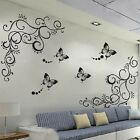 Fashion Butterfly Flower Wall Sticker Decor House Room Removable Art Quote Decal
