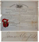 James Garfield 17'' x 14'' Document Signed as President
