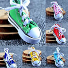 1pc Canvas Cool Top Sneaker Tennis Shoes Key Chain Ring Keyring Women Man BH