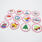 120pcs/set Mixed fruit/house/animal/christms tree Embroidered Iron On Patches