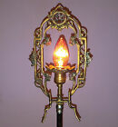 ANTIQUE METEOR LAMP ART DECO CAST METAL ELECTRIC CANDELABRA VINTAGE TABLE LIGHT