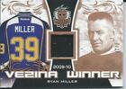 2017 Leaf Masked Men Vezina Winner Memorabilia Patch RYAN MILLER 7 20 VW RM1